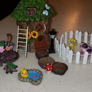 40 Piece Cute Fairy Garden Complete